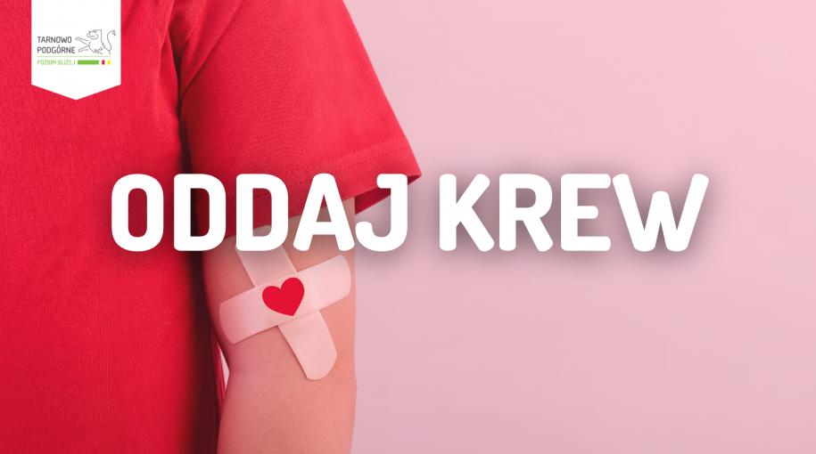 Grafika informująca o zbiórce krwi
