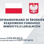 Tablica informująca o dofinansowaniu Centrum Integracji Obywatelskiej Tarnowo Podgórne