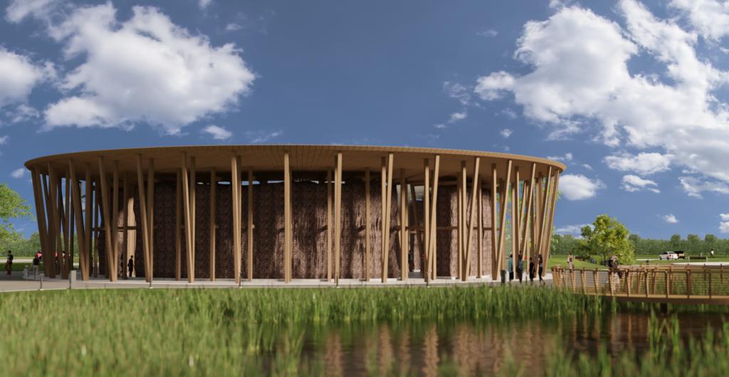 Rzut na budynek planowanej inwestycji tarnowskich tężni solankowcyh