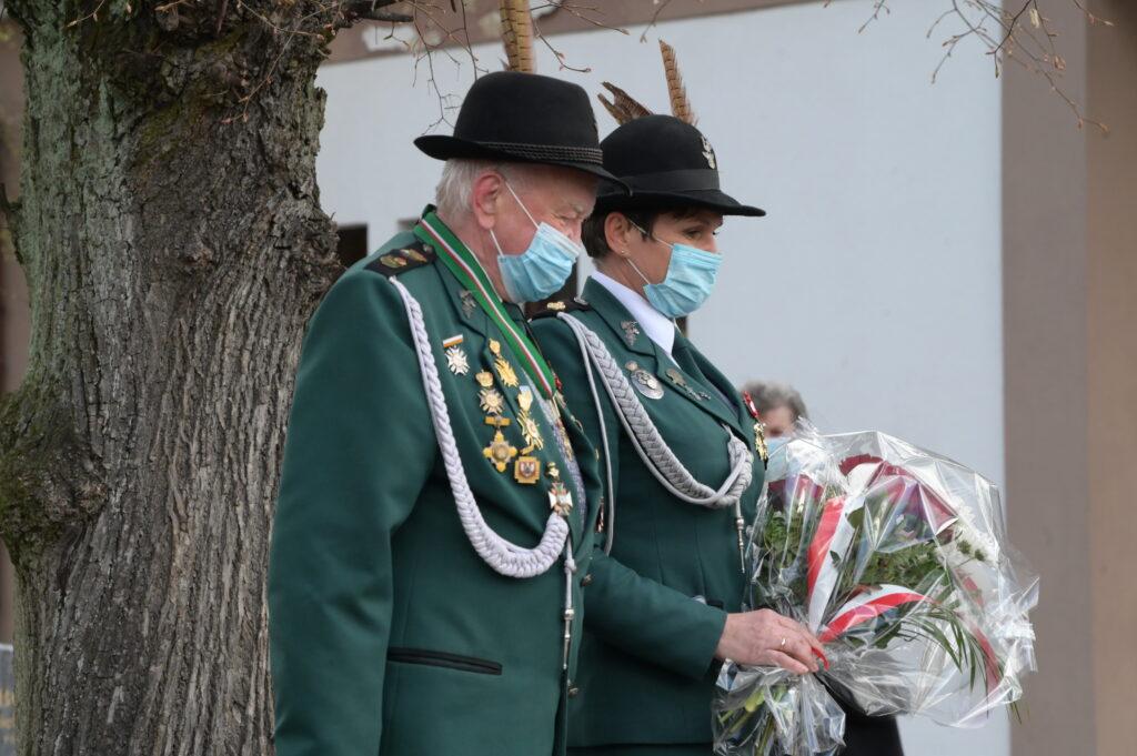 Na zdjęciu przedstawiciele Kurkowego Bractwa Strzeleckiego w Tarnowie Podgórnym.