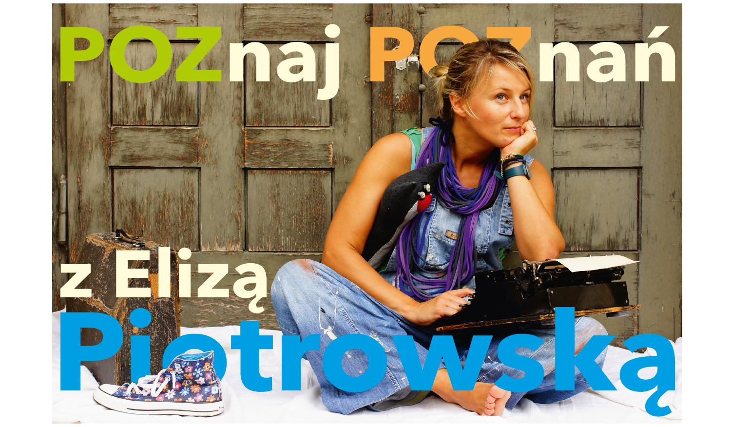 Baner promujący spotkanie online z Elizą Piotrowską dla dzieci